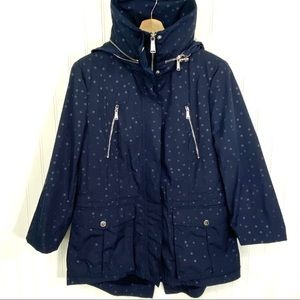 BCBGeneration Hooded with dots Raincoat size L